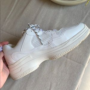 White Chunky Sneakers